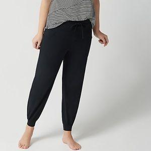 AnyBody Women/'s Petite Cozy Knit Cargo Jogger Pants Navy Blue PL Size
